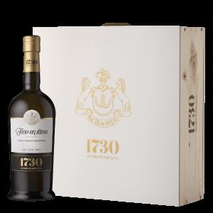 vino 1730 Fino en Rama estuche madera 3 botellas