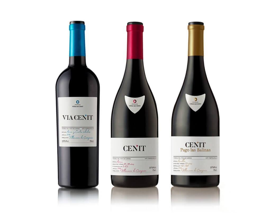 botellas vino del cenit - Terraselecta